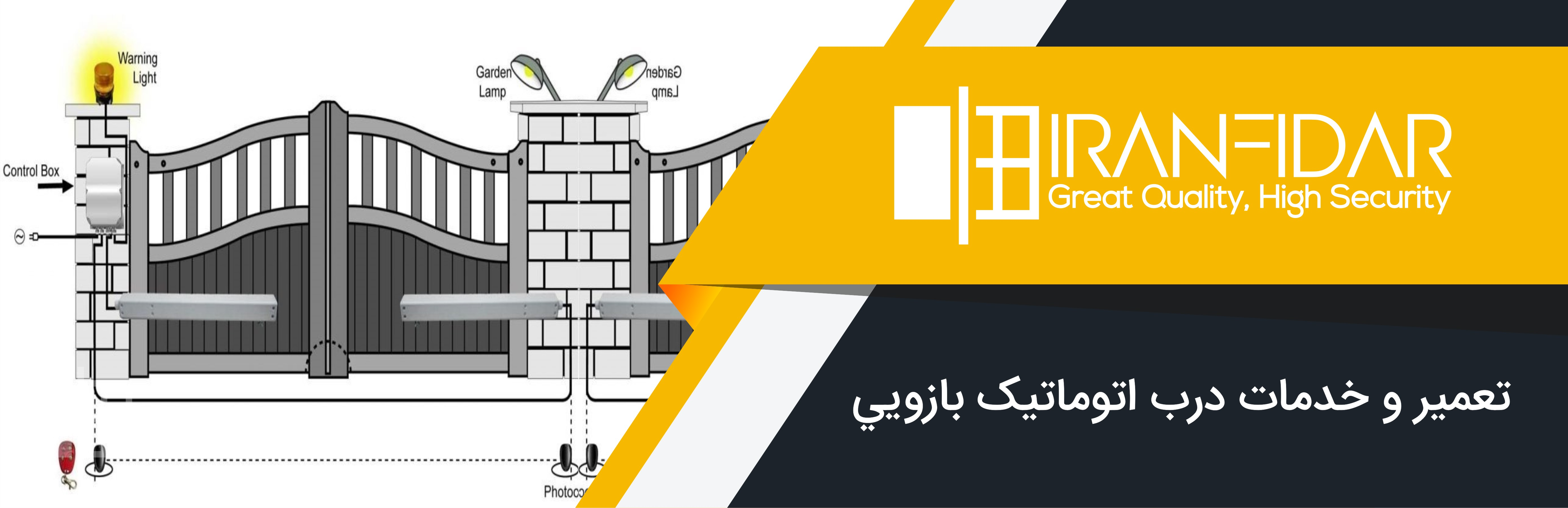 تعمیر انواع درب اتوماتیک پارکینگ | ایران فیدار